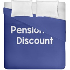 Pensioners Discount Sale Blue Duvet Cover Double Side (king Size) by Mariart