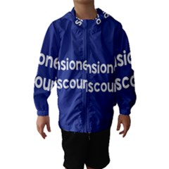 Pensioners Discount Sale Blue Hooded Wind Breaker (Kids) by Mariart
