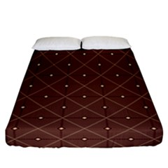 Coloured Line Squares Brown Plaid Chevron Fitted Sheet (california King Size) by Mariart