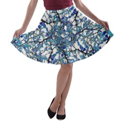 Modern Nouveau Pattern A Line Skater Skirt by dflcprintsclothing