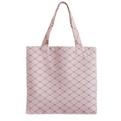 Plaid Star Flower Iron Zipper Grocery Tote Bag by Mariart