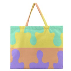 Puzzle Gender Zipper Large Tote Bag by Mariart