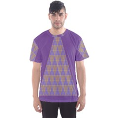 Pyramid Triangle  Purple Men s Sport Mesh Tee by Mariart