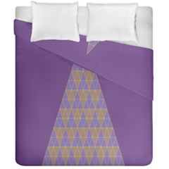 Pyramid Triangle  Purple Duvet Cover Double Side (california King Size) by Mariart