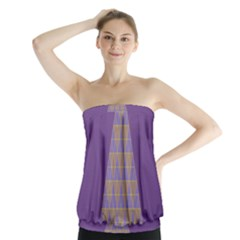 Pyramid Triangle  Purple Strapless Top by Mariart
