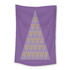 Pyramid Triangle  Purple Small Tapestry by Mariart