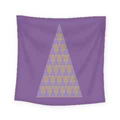 Pyramid Triangle  Purple Square Tapestry (small) by Mariart
