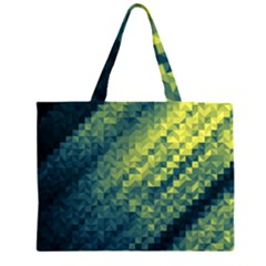 Polygon Dark Triangle Green Blacj Yellow Large Tote Bag by Mariart