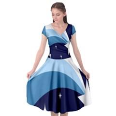 Star Gender Flags Cap Sleeve Wrap Front Dress