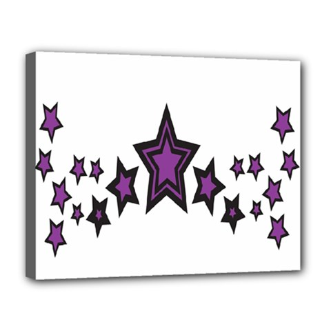 Star Purple Space Canvas 14  X 11  by Mariart