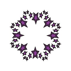 Star Purple Space Straight Umbrellas by Mariart