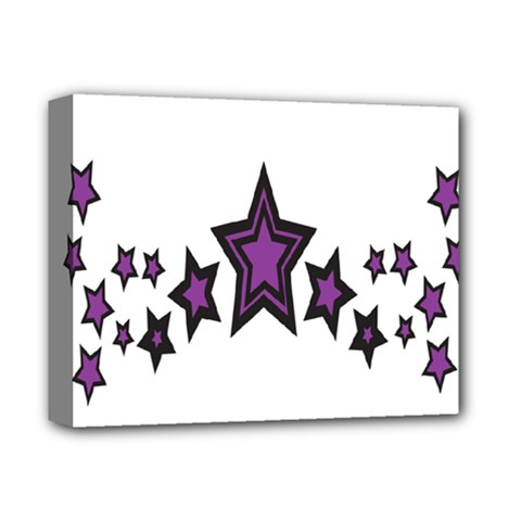 Star Purple Space Deluxe Canvas 14  X 11  by Mariart