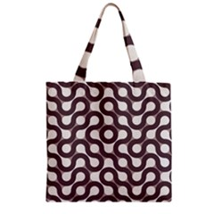 Seamless Geometric Circle Zipper Grocery Tote Bag by Mariart