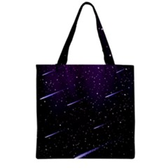 Starry Night Sky Meteor Stock Vectors Clipart Illustrations Grocery Tote Bag by Mariart