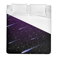 Starry Night Sky Meteor Stock Vectors Clipart Illustrations Duvet Cover (full/ Double Size) by Mariart