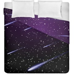 Starry Night Sky Meteor Stock Vectors Clipart Illustrations Duvet Cover Double Side (king Size) by Mariart
