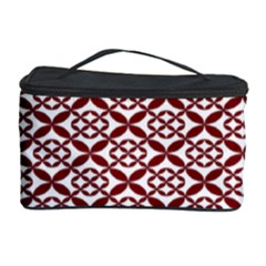 Pattern Kawung Star Line Plaid Flower Floral Red Cosmetic Storage Case by Mariart