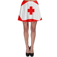 Tabla Laboral Sign Red White Skater Skirt by Mariart