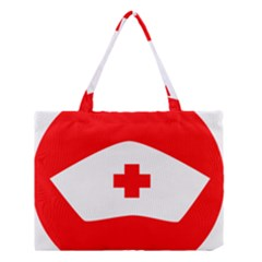 Tabla Laboral Sign Red White Medium Tote Bag by Mariart