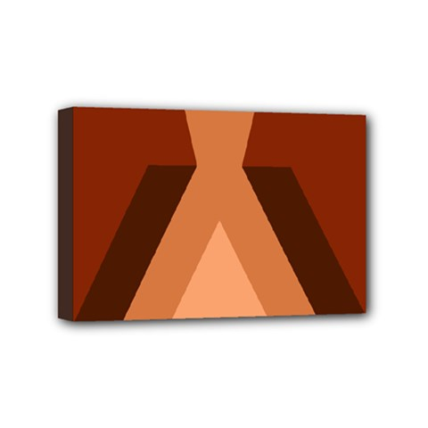 Volcano Lava Gender Magma Flags Line Brown Mini Canvas 6  X 4  by Mariart