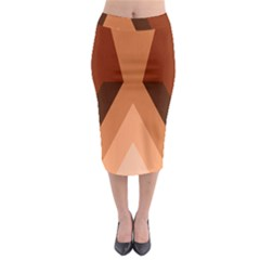Volcano Lava Gender Magma Flags Line Brown Midi Pencil Skirt by Mariart