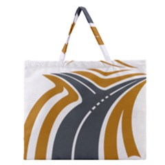Transparent All Road Tours Bus Charter Street Zipper Large Tote Bag by Mariart