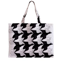 Swan Black Animals Fly Zipper Mini Tote Bag by Mariart
