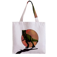 Dinosaurs T Rex Zipper Grocery Tote Bag by Valentinaart