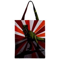 Dinosaurs T Rex Zipper Classic Tote Bag