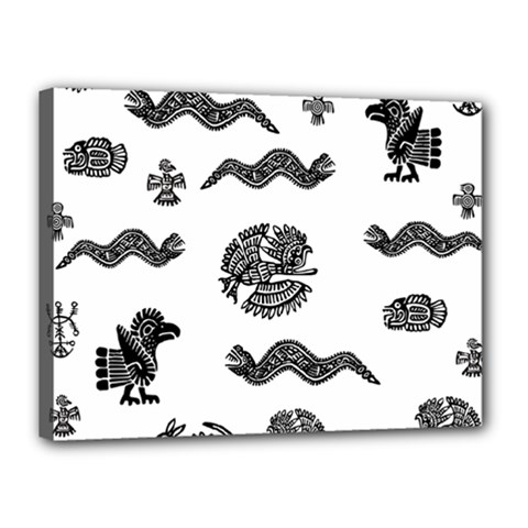 Aztecs Pattern Canvas 16  X 12  by Valentinaart