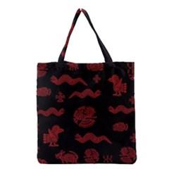 Aztecs Pattern Grocery Tote Bag by Valentinaart