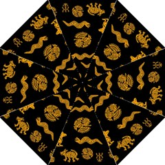 Aztecs Pattern Golf Umbrellas by Valentinaart