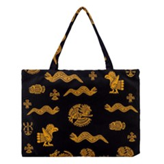 Aztecs Pattern Medium Tote Bag by Valentinaart