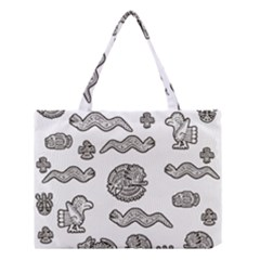 Aztecs Pattern Medium Tote Bag by Valentinaart