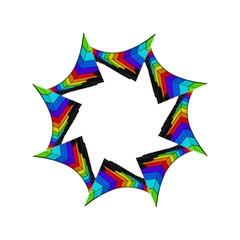 Rainbow Piano  Golf Umbrellas by Valentinaart