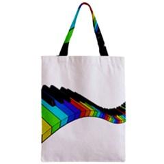 Rainbow Piano  Zipper Classic Tote Bag by Valentinaart