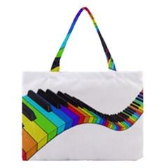 Rainbow Piano  Medium Tote Bag by Valentinaart
