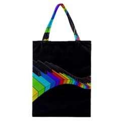 Rainbow Piano  Classic Tote Bag by Valentinaart