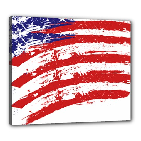 American Flag Canvas 24  X 20  by Valentinaart