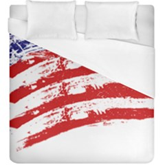 American Flag Duvet Cover (king Size) by Valentinaart