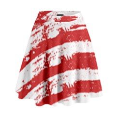 American Flag High Waist Skirt by Valentinaart