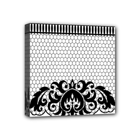Transparent Lace Decoration Mini Canvas 4  X 4