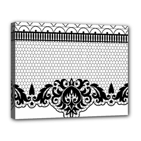 Transparent Lace Decoration Canvas 14  X 11  by Nexatart