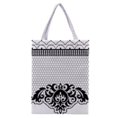 Transparent Lace Decoration Classic Tote Bag
