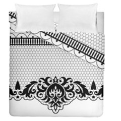 Transparent Lace Decoration Duvet Cover Double Side (queen Size) by Nexatart