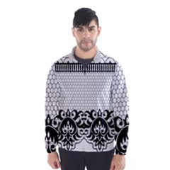 Transparent Lace Decoration Wind Breaker (men)