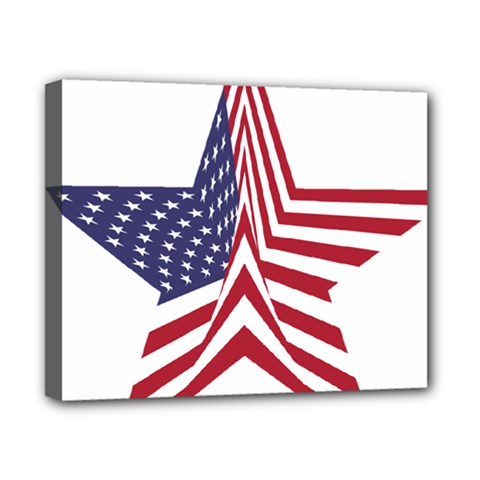 A Star With An American Flag Pattern Canvas 10  X 8  by Nexatart