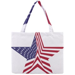 A Star With An American Flag Pattern Mini Tote Bag