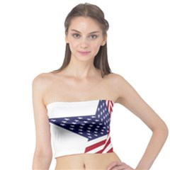A Star With An American Flag Pattern Tube Top