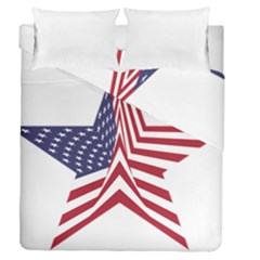 A Star With An American Flag Pattern Duvet Cover Double Side (queen Size) by Nexatart